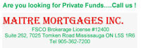 Are You Looking for Private Funds...Call Us  905 362 7200