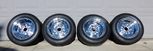 "Chevy 14"" Chrome Reverse Rims/SOLD"