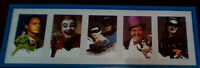 1968 Batman Television Series 5 Coloured Picture Framed Set