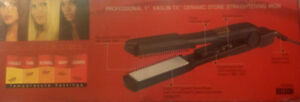 "BRAND NEW MEGA HOT CERAMICS PROFESSIONAL 1"" HAIR IRON $25"
