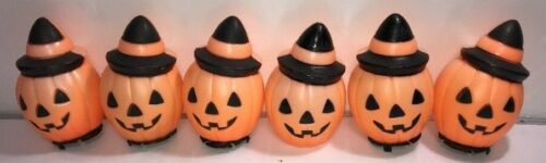 Empire Blow Mold Small Halloween 6 Pumpkins NO Lights or Cords included 1981