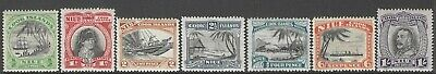NIUE :1932 pictorial definitives-no watermark  SG55-61 MNH