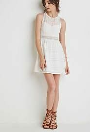 NWT Forever 21 Ornate Embroidered Dress sz Med