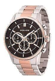 Police Men Watch PL.15001JSTR/02M Two Tones Bracelet Gold and Si