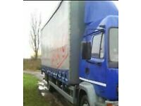 Blue DAF55 Curtainside
