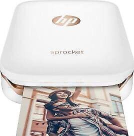 Brand new HP Sprocket 2x3 phone photo printer white $160