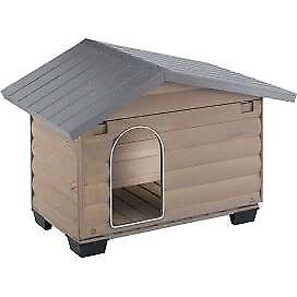 FERPLAST CANADA Outdoor wooden kennel, opening front panel