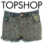 TOPSHOP Denim Shorts W28