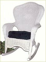 White wicker rocking chair for sale