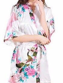 Satin Floral Peacock Kimono Robe Kalamunda Kalamunda Area Preview