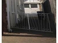 Free White Iron Gates