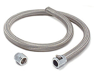 BRAIDED STAINLESS STEEL-FLEX Heater Hose Kit  5/8