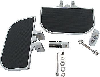 Mid USA Chrome Mini Floorboards for Harley Front or Rear Male Mount Foot Boards