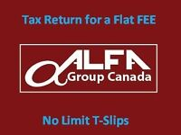 Alfa Tax Return services for a FLAT fee Vancouver