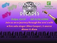 Dancing Through The Decades 60s thru 80s Live Singer / Dinner / Disco