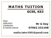 MATHS TUTOR TUITION GCSE KS3 HAMPSHIRE IN FLEET, ALDERSHOT, CAMBERLEY AND NEARBY PLACES