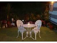Metal Bistro Set / Patio Table & Chairs