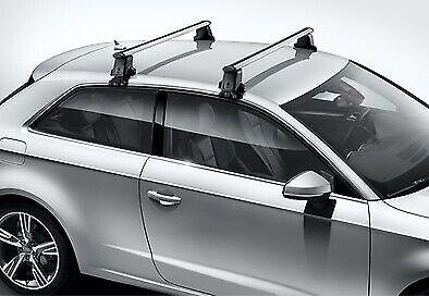 Thule Aluminium WingBar Evo Black Roof Bars Set to fit Audi A3 8P 3 Door 03-11