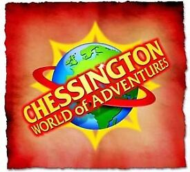 4x Chessington Worlds of Advanture Tickets Valid on THURSDAY 17th of July