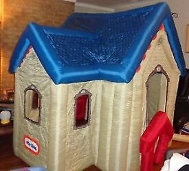 Little tykes playhouse/ inflatable cottage