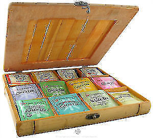 UNCLE LEE'S TEA - BAMBOO TEA CHEST WITH 60 TEABAGS