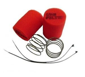 Unifilter Rally Race Offroad Pod Filter RP605/2 Red Suit Weber 45,48,50mm DCOE