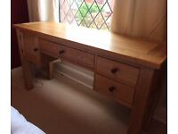 Solid Wood Dressing Table By Halo Furniture in Natural Oak