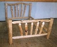 Custom log beds & other woodworking