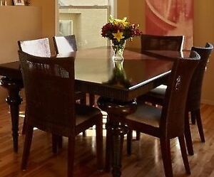 8 Seater Dining Table (elegant one piece of wood) with chairs
