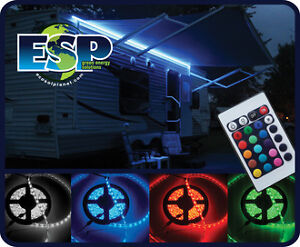24 Foot Colour LED STrip Light for your RV Awning