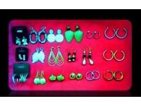 SELECTION OF EARRINGS - 20 PAIRS - FOR SALE