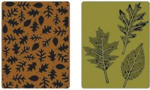 Sizzix 2PK A2 embossing Folders  - Textured Leaves Set - $12