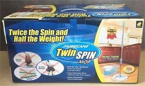 New, Hurricane Twin Spin Mop Telebrands As Seen Tv Spinning Mop And Bucket