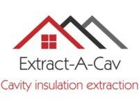 Extract-A-Cav. Cavity wall insulation extraction experts. Removing failed cavity wall insulation.