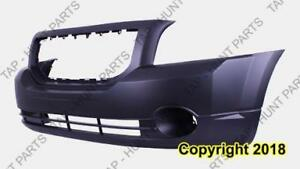 Bumper Front Primed With Fog Lamp Hole Exclude Srt High Quality Dodge Caliber 2007-2012