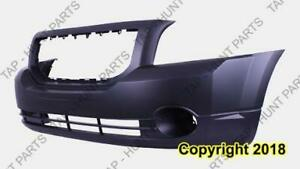 Bumper Front Primed With Fog Light Hole Exclude Srt High Quality Dodge Caliber 2007-2012