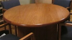 Round oak table 48 inches across, great condition