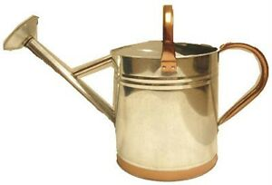 2 Gallon Galvanized Watering Can w/ Copper Accent - New