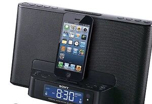 Sony ICF-CS15iP AM/FM Clock Radio iPad/iPod/iPhone Speaker Dock