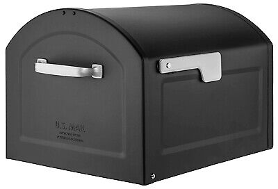 Architectural Mail 950020B-10 Centennial Post-Mount Mailbox, Black, Extra Large