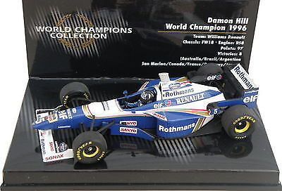 Das Model des 1996er Williams Renaults von Damon Hill