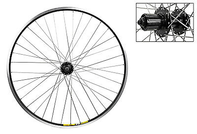 Wheel Rear 700c Weinmann ZAC19 Black MSW 36 Alloy 8S CASS 6B DISC ()