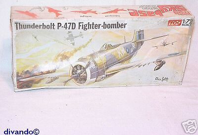 f5d9c75fc3b Frog 1:72 P-47D THUNDERBOLT WWII Fighter Kit `70 RARE!