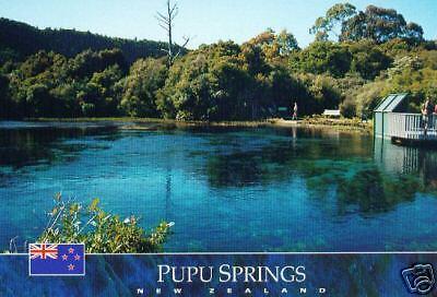 Postcard: Pupu Springs, Neuseeland