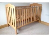 Beech wood cot bed - mamas and papas