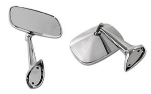 1975-1979-Corvette-C3-Chrome-Outside-Large-6-25-x3-5-Rearview-Mirror-Set