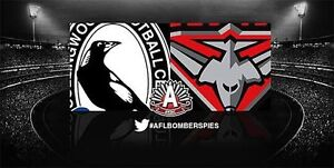 ESSENDON VS COLLINGWOOD RESERVED SEAT TICKETS South Yarra Stonnington Area Preview