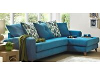 4 seater DFS chaise scatter back soafa