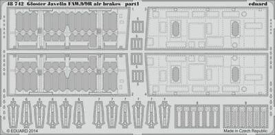 Eduard Accessories 48742 - 1:48 Gloster Javelin Faw.9/9R Air Brakes F.Ai - Ätzsa