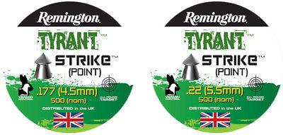 REMINGTON TYRANT STRIKE Pellets H&N Airgun Air Rifle .177 .22 QTY 50 - 500